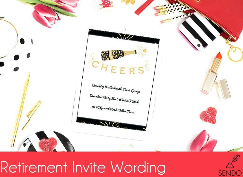 Retirement Dinner Invitation Sample