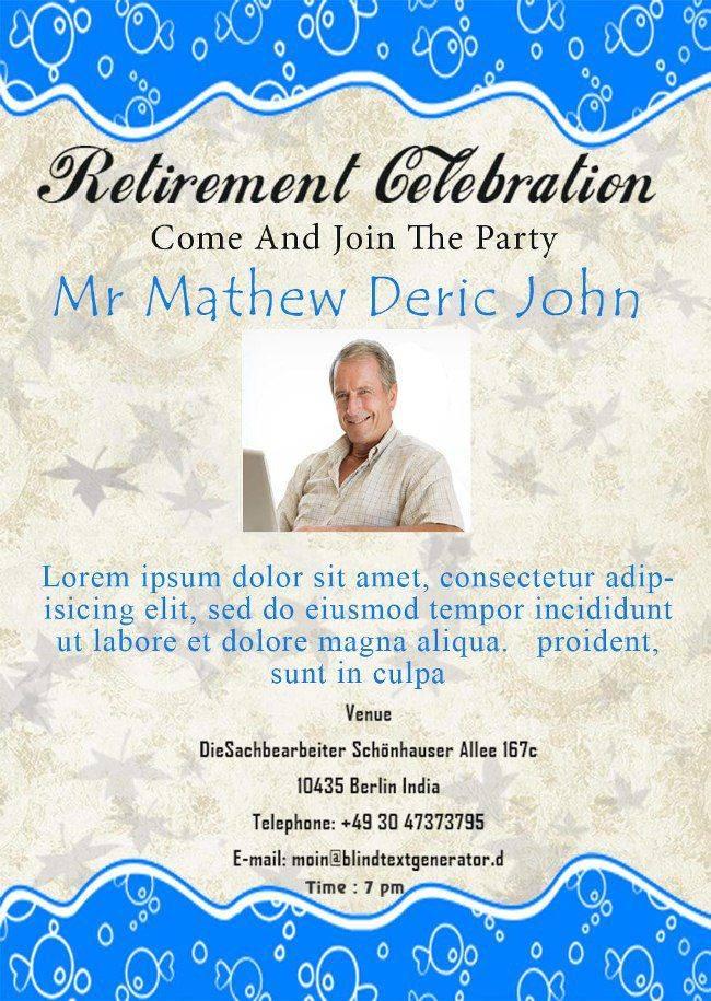 Retirement Flyer Samples