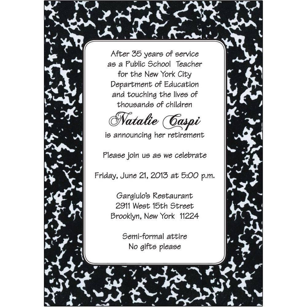 Retirement Invitation Designs