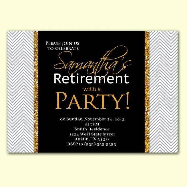 Retirement Invitation Template Free Download