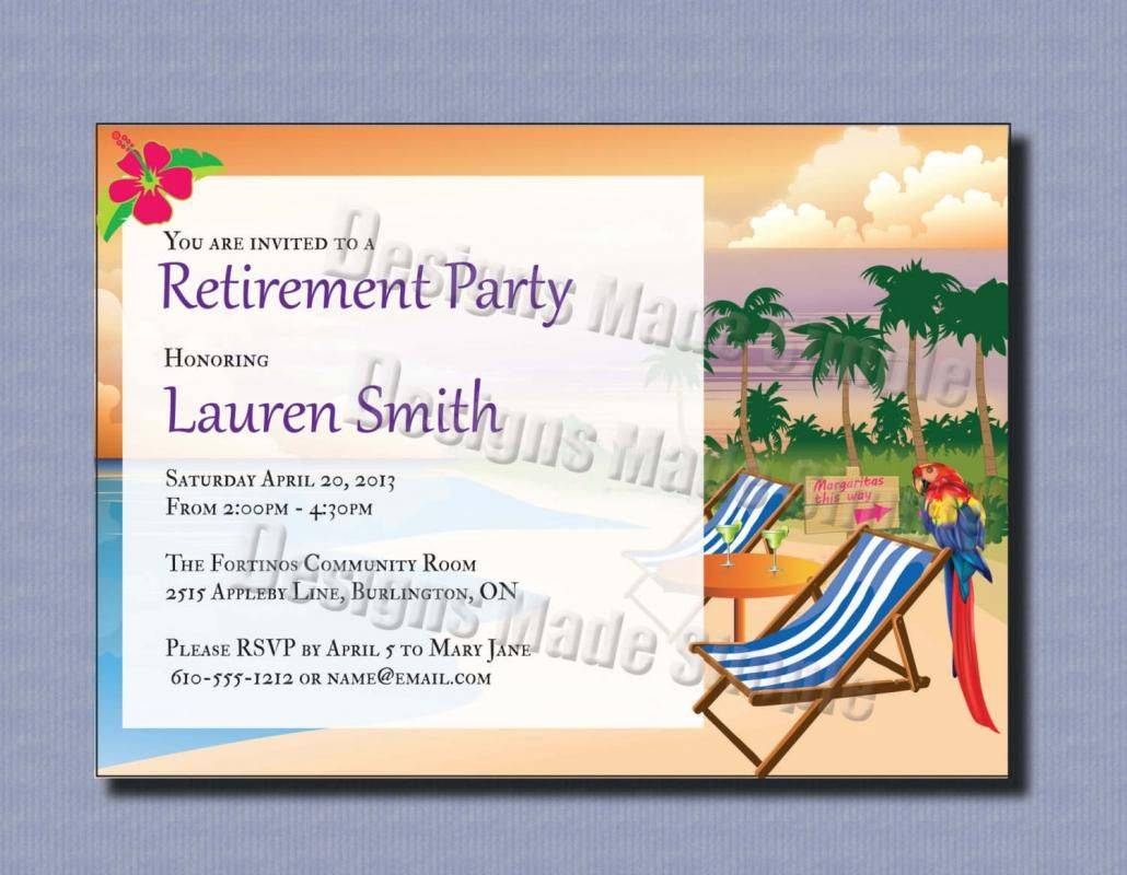 Retirement Invitation Template Word