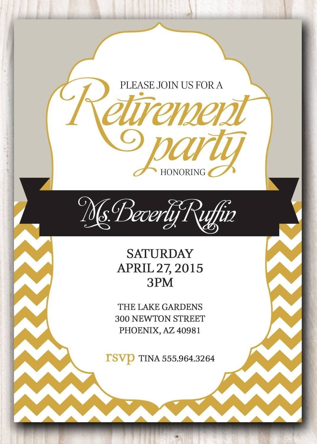 Retirement Invitations Template Free