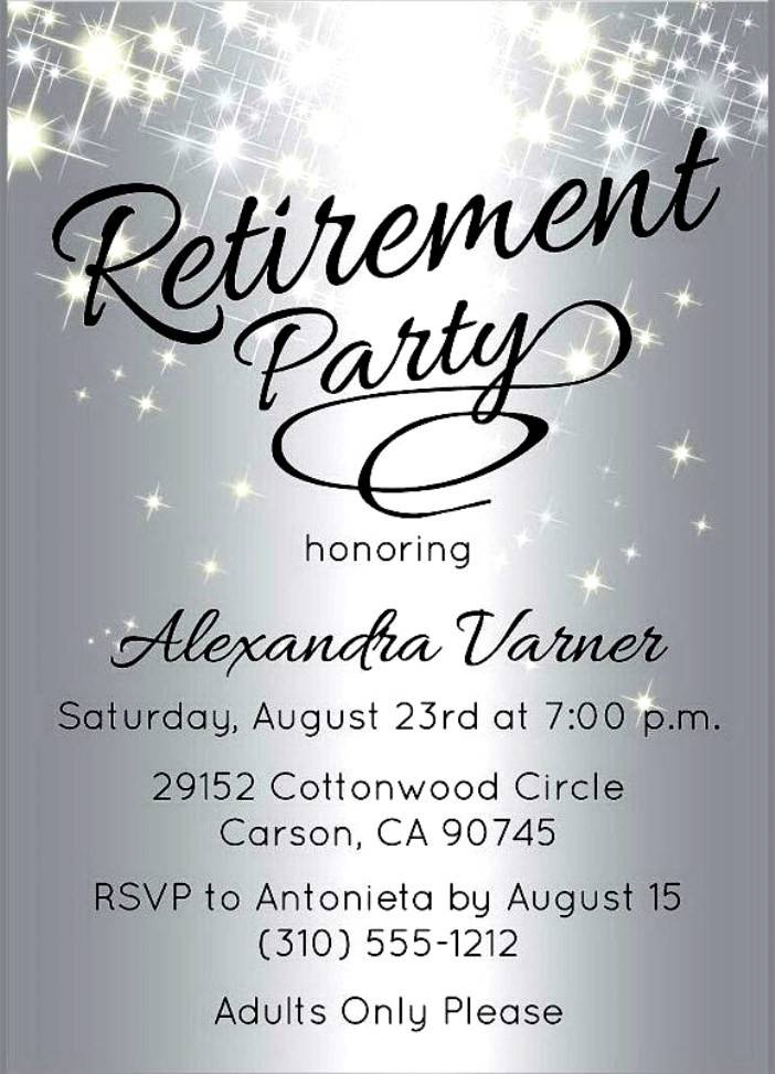 Retirement Invitations Template