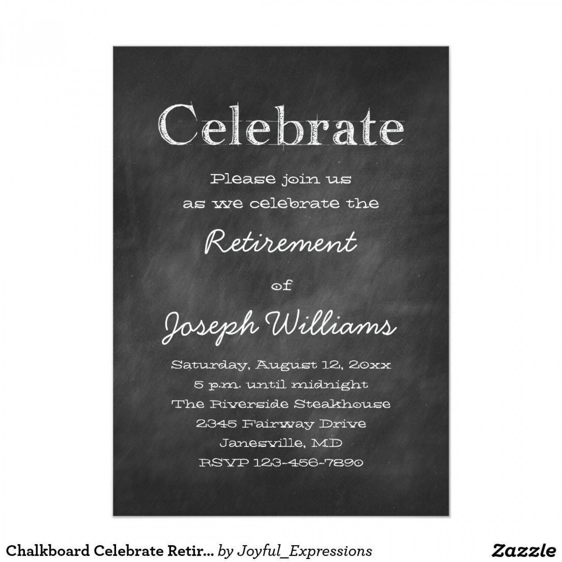 Retirement Lunch Invitation Template