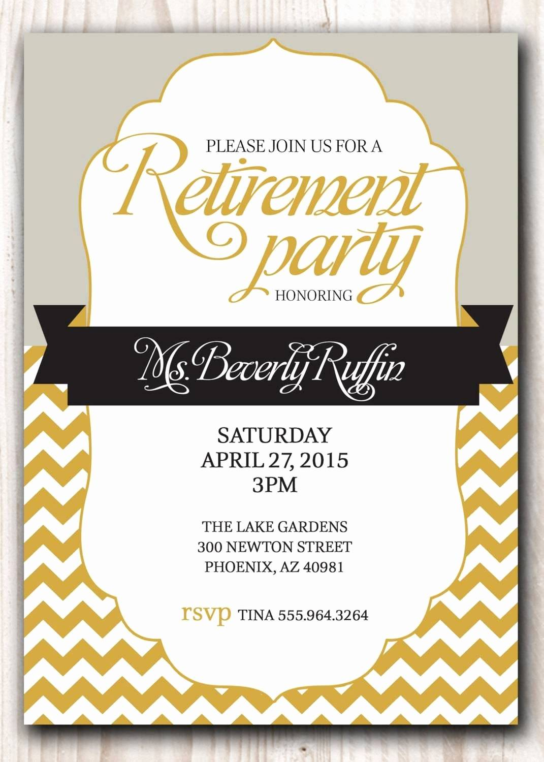 Retirement Party Flyer Template Microsoft