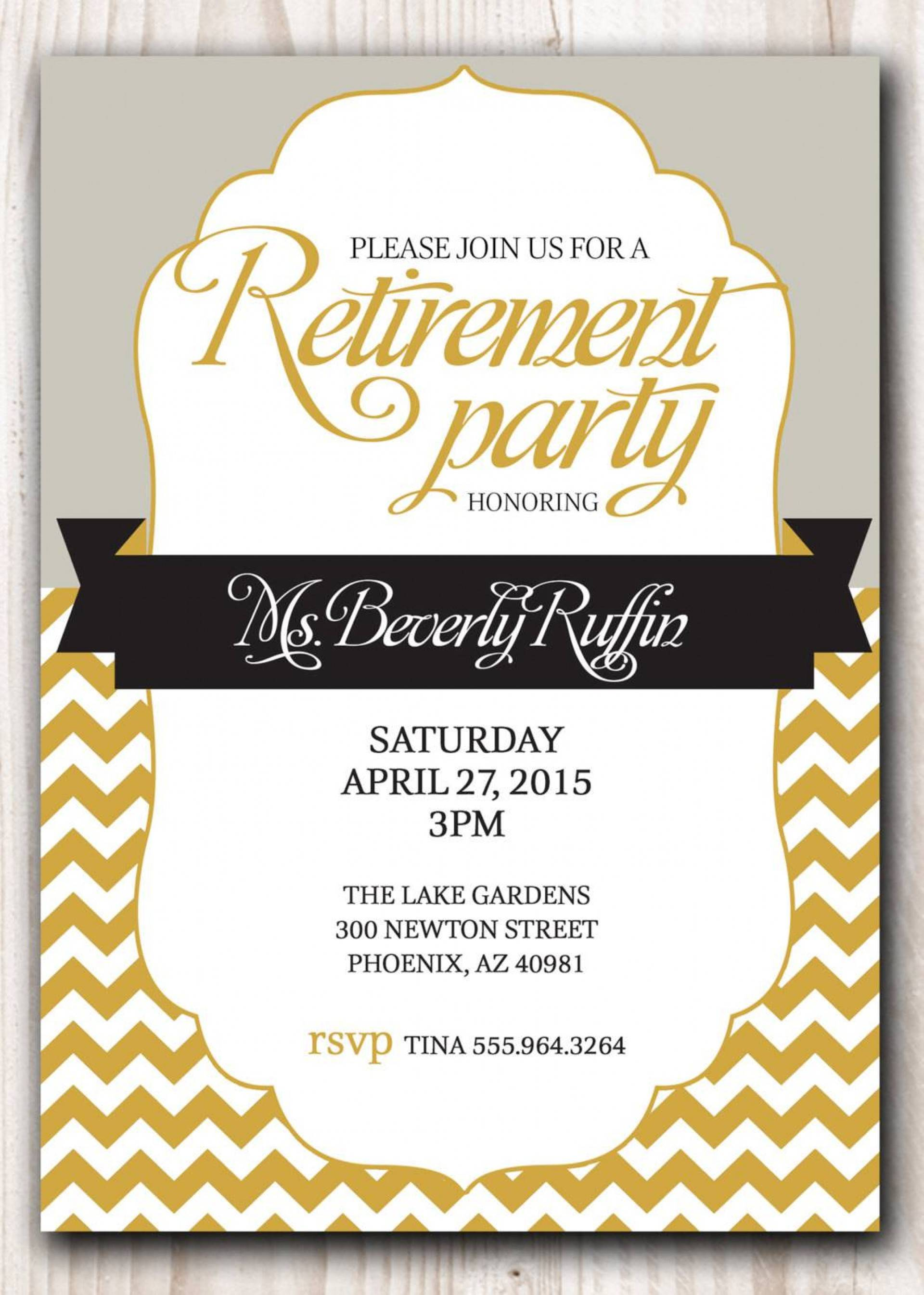 Retirement Party Invitation Templates Free Word