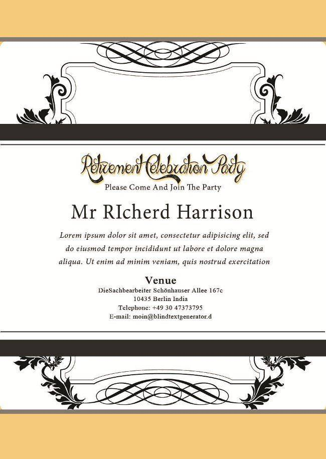 Retirement Party Invitations Flyer Template