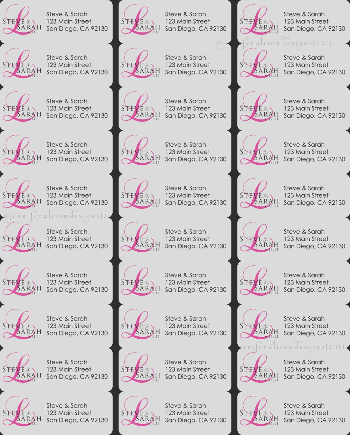 Return Address Labels Template 10 Per Sheet