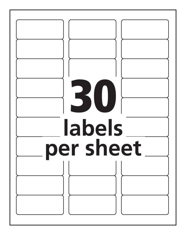 Return Address Labels Template 20 Per Sheet