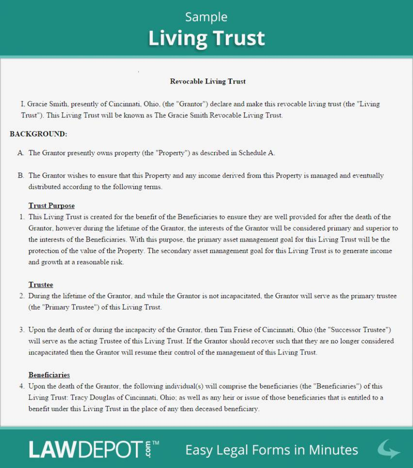 Revocable Living Trust Forms Online