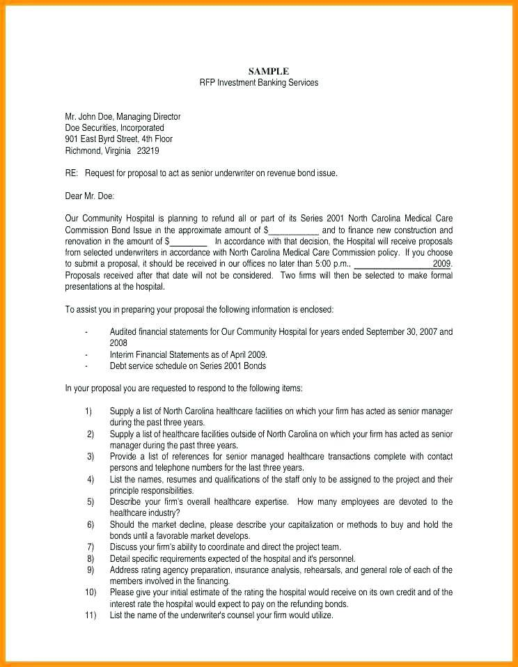 Rfp Proposal Samples