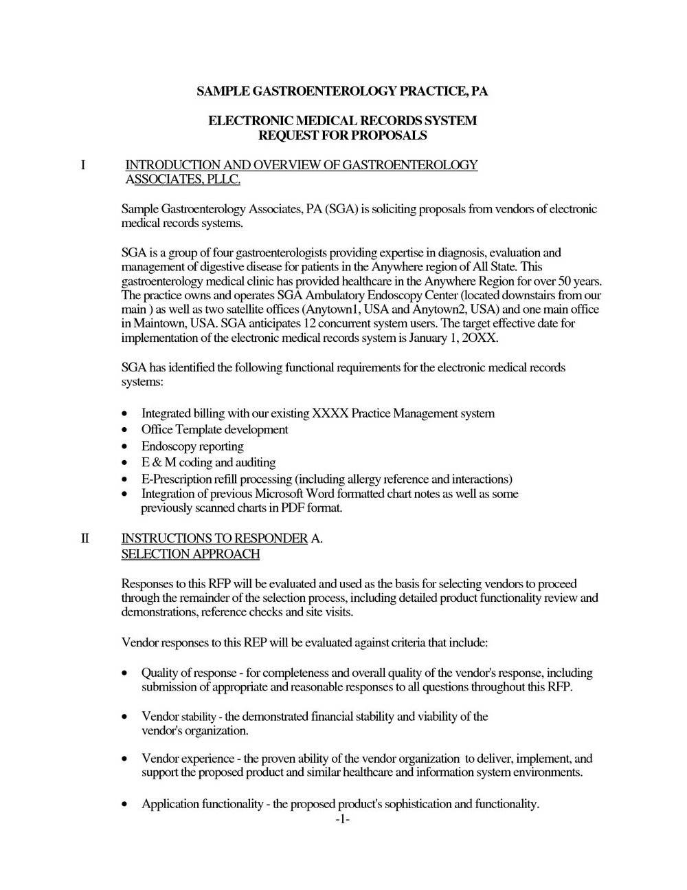 Rfp Response Template Email