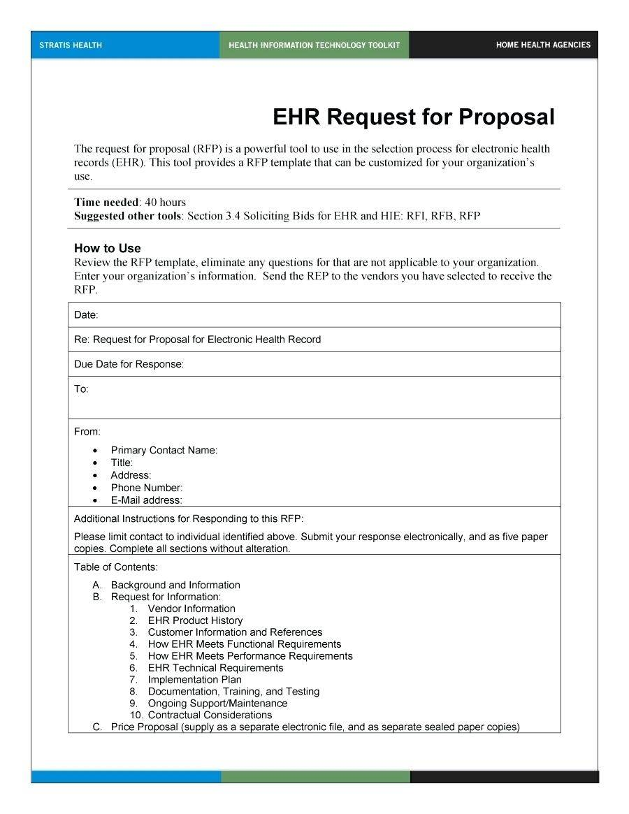 Rfp Review Process Template