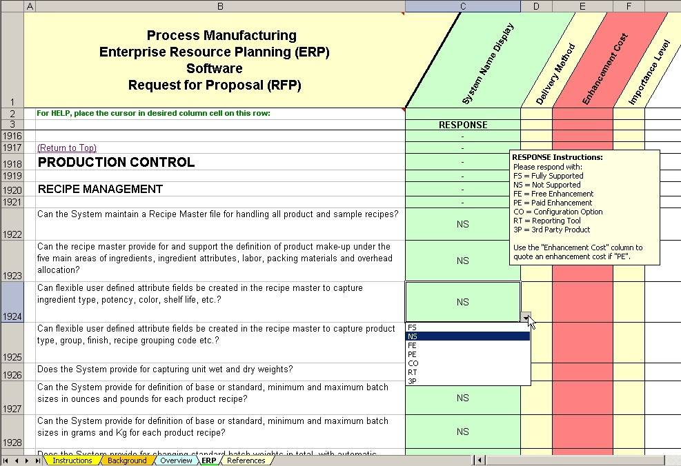 Rfp Template For Erp Software