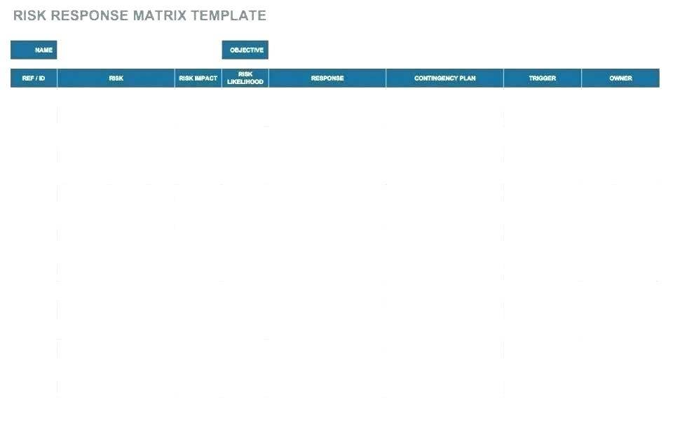 Risk Mitigation Matrix Template