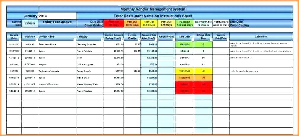 Risk Mitigation Spreadsheet Template