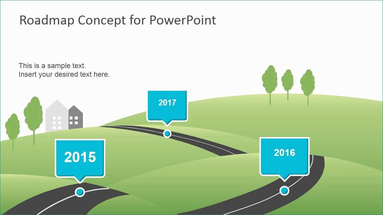 Roadmap Template For Powerpoint Free Download