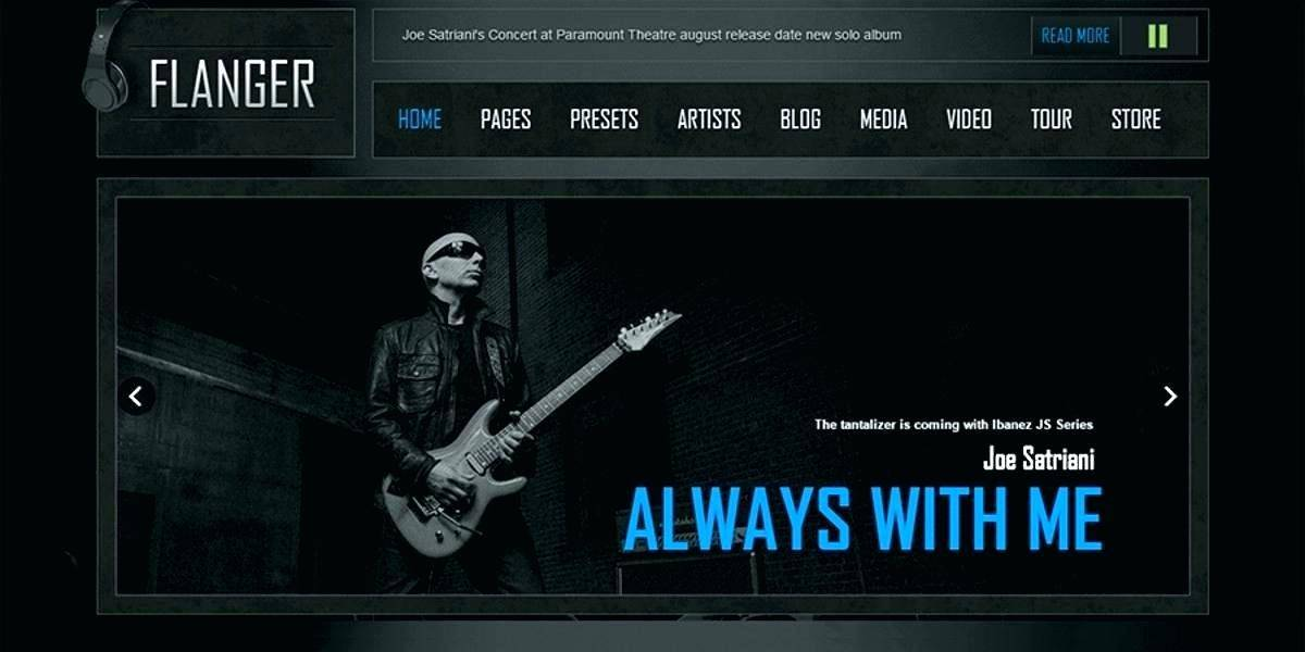 Rock Band Website Template Free