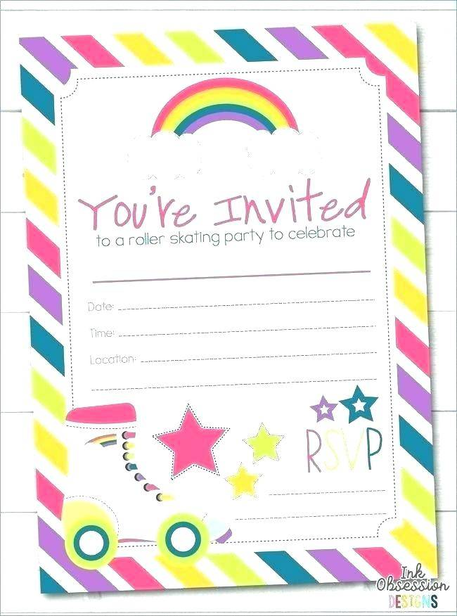 Roller Skating Birthday Party Invitation Template