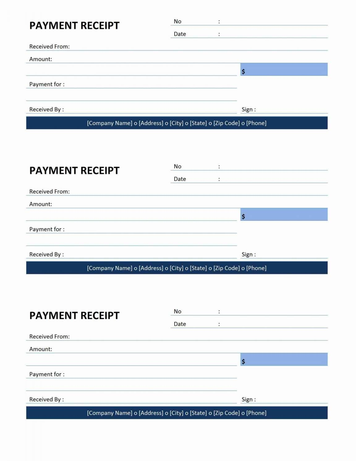 Roofing Receipt Template