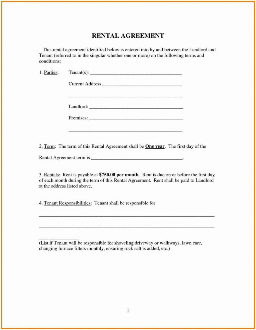 Room Rental Agreement Template Bc