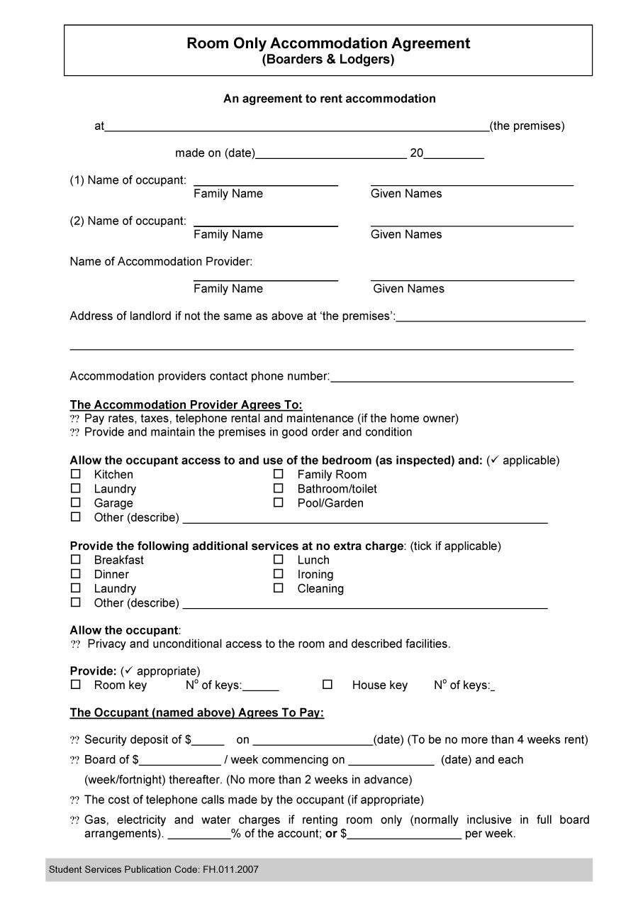 Roommate Agreement Template Pdf
