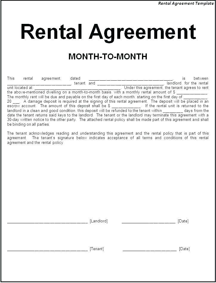 Roommate Agreement Template South Africa