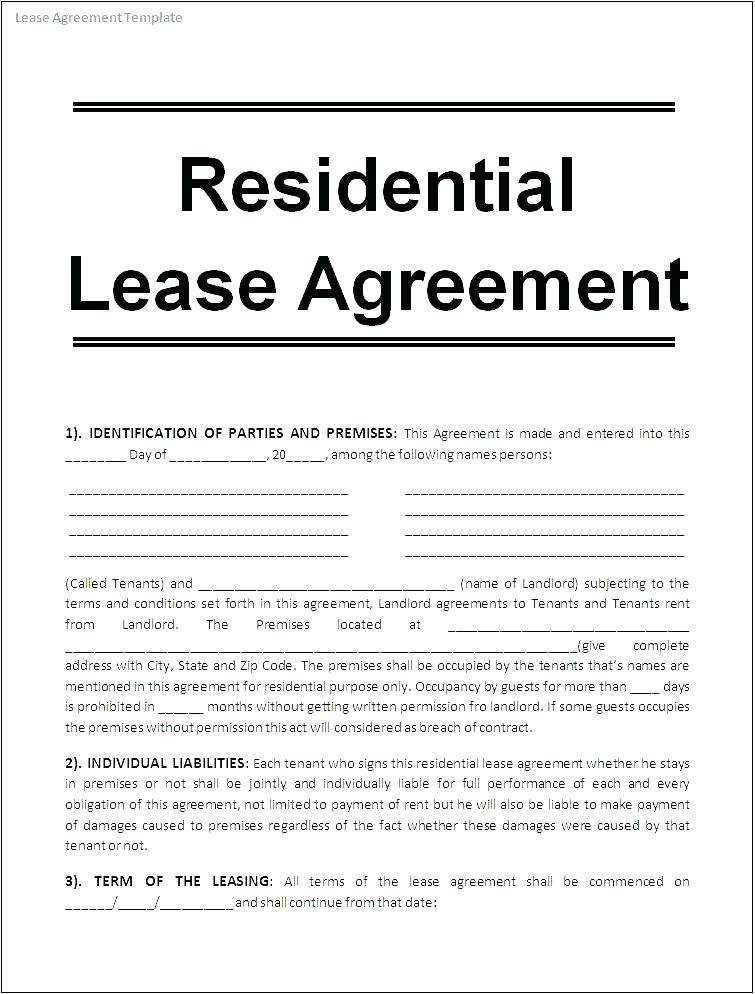 Roommate Agreement Template Uk