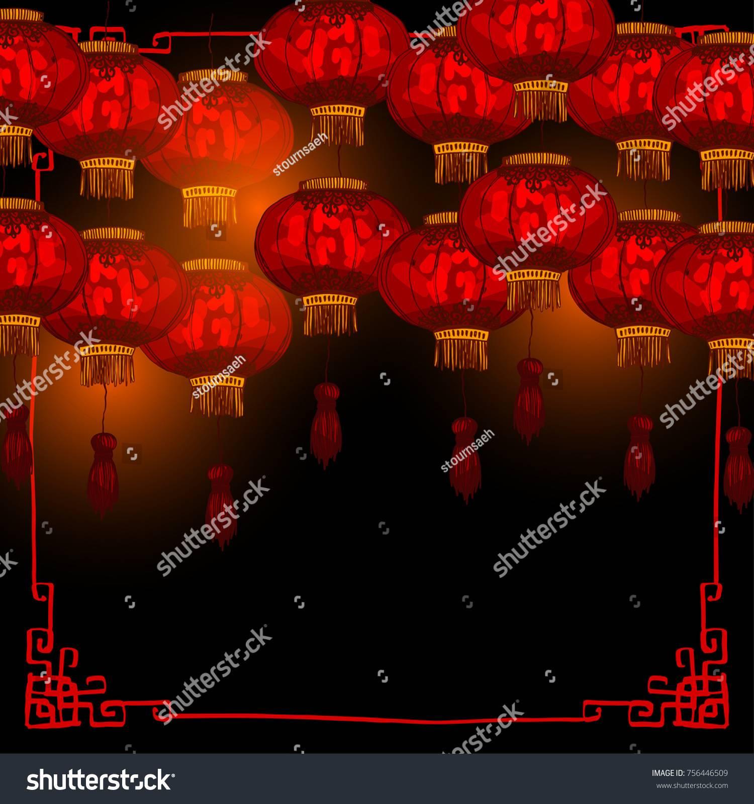Round Chinese Lantern Template