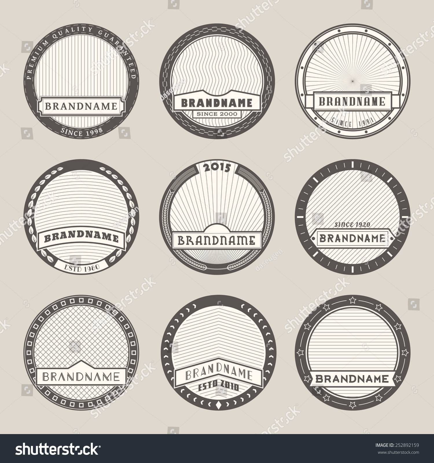 Round Label Templates