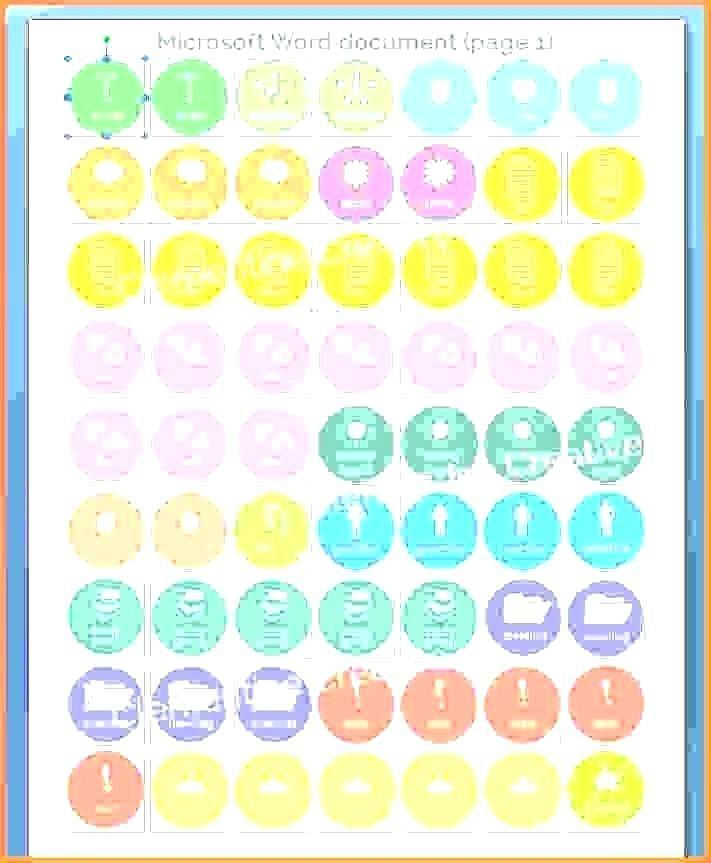 Round Labels Templates 24 Per Sheet