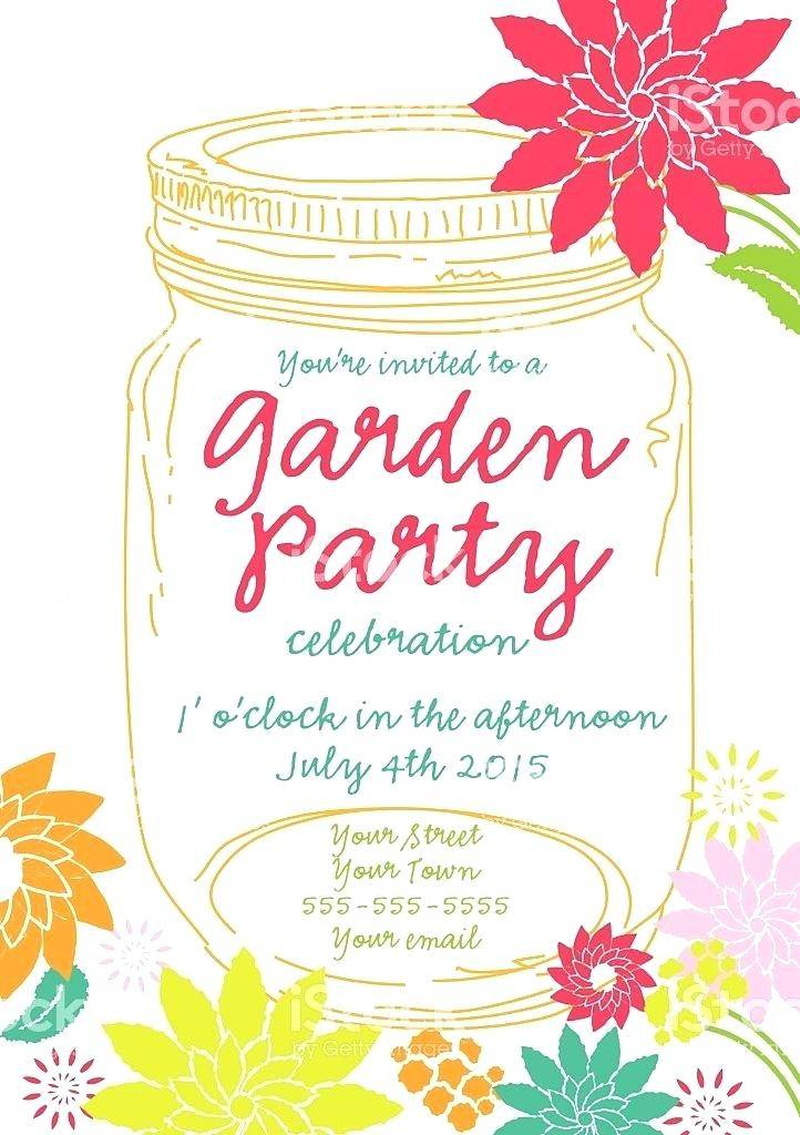 Royal Garden Party Invitation Template