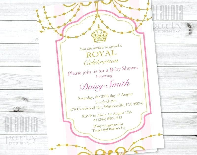Royal Princess Baby Shower Invitations Templates