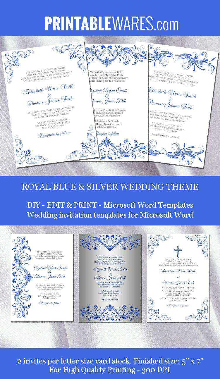 Royal Wedding Invitation Templates