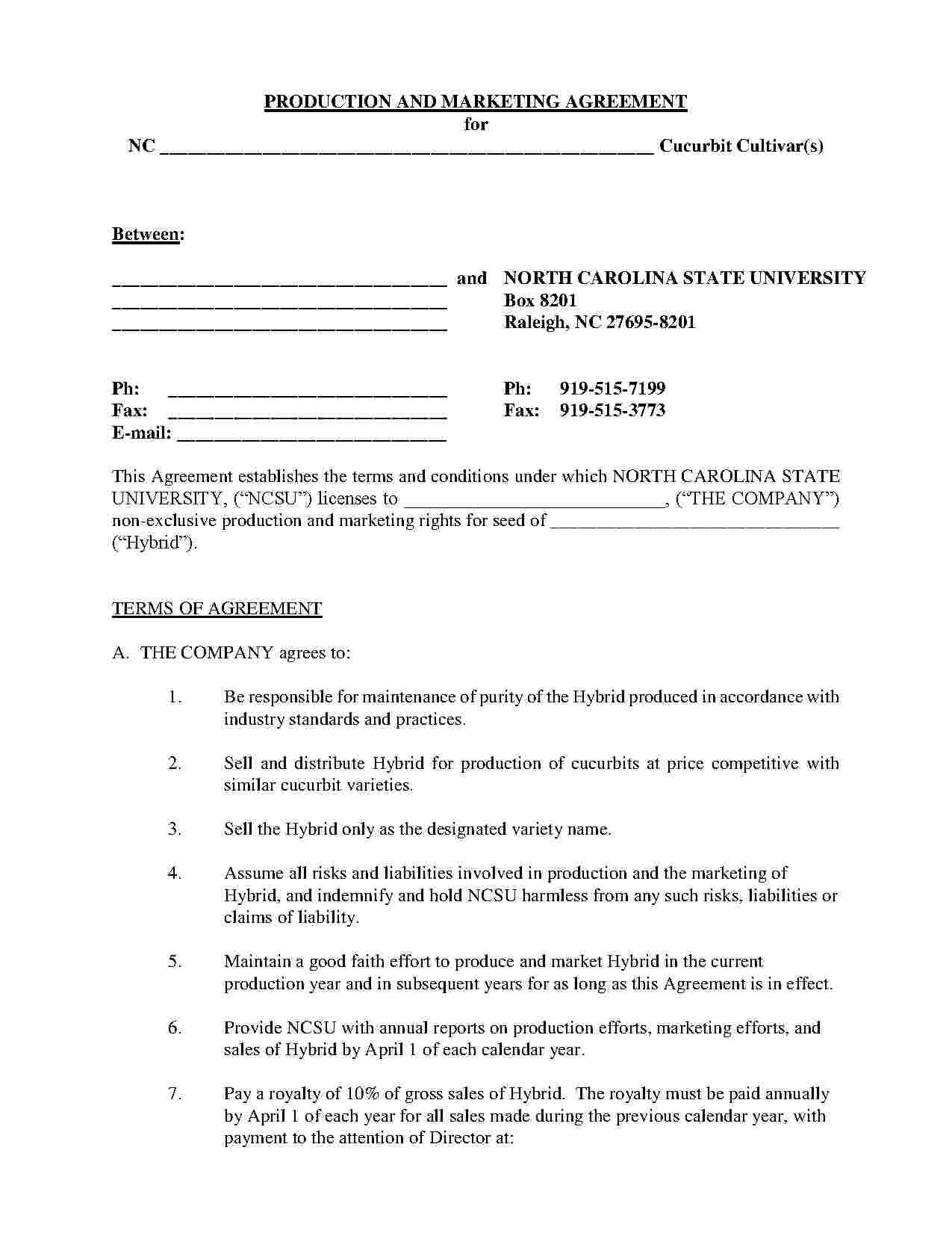 Royalty Agreement Template Free Download