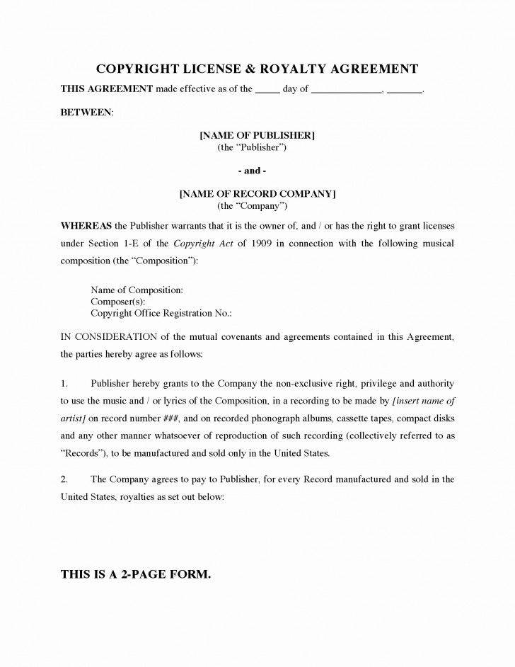 Royalty Agreement Template