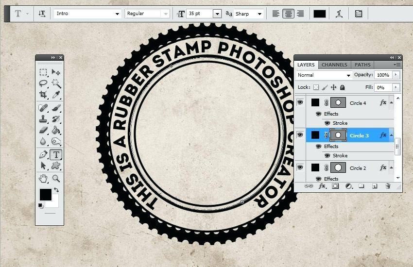 Rubber Stamp Template Free Download