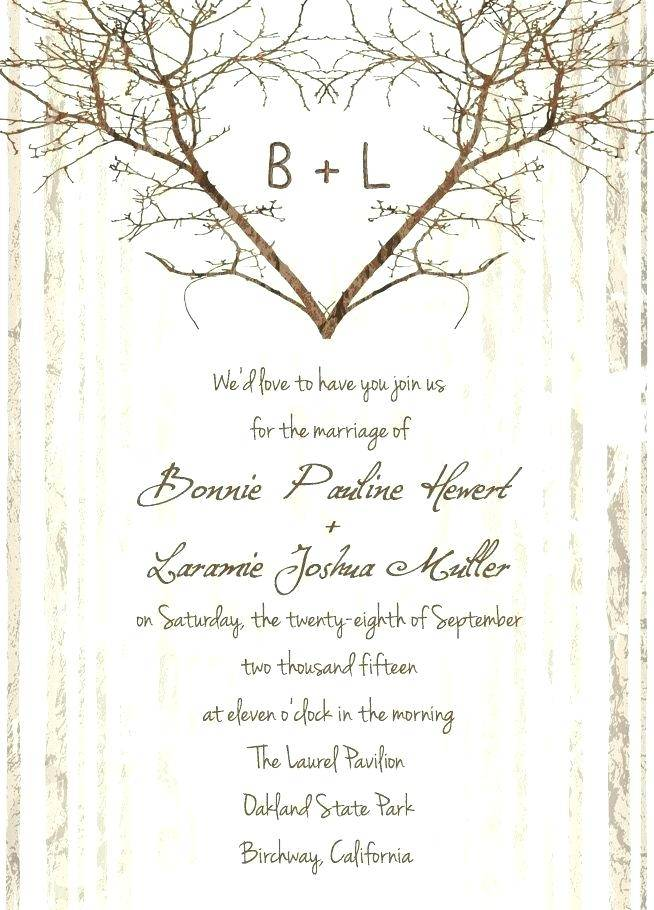 Rustic Country Wedding Invitation Templates Free
