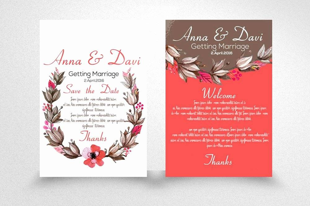 Rustic Elegant Wedding Invitation Templates