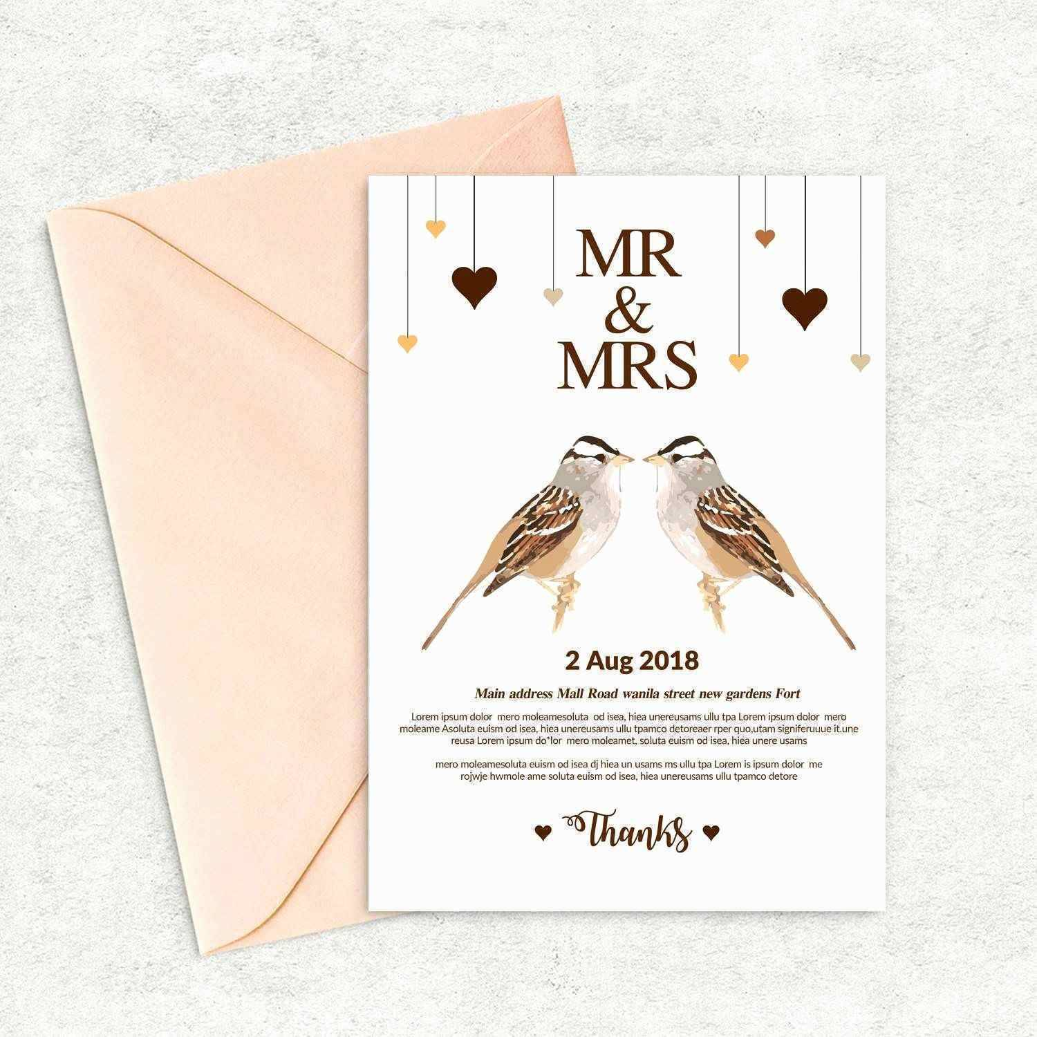 Rustic Wedding Menu Templates