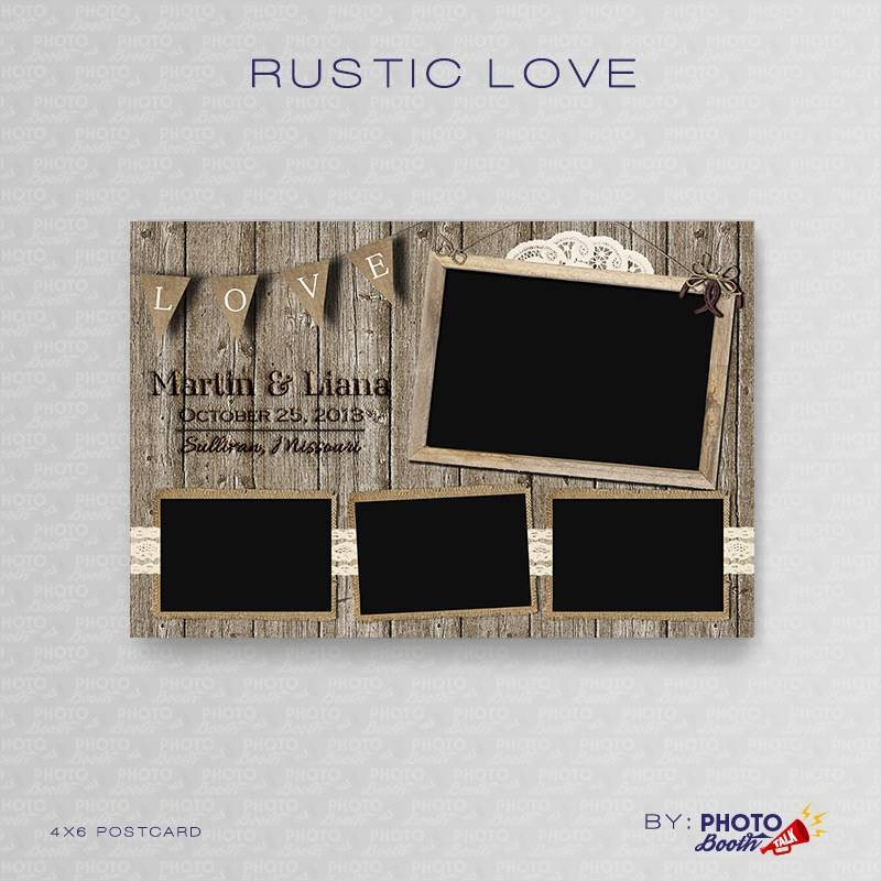 Rustic Wedding Photo Booth Templates