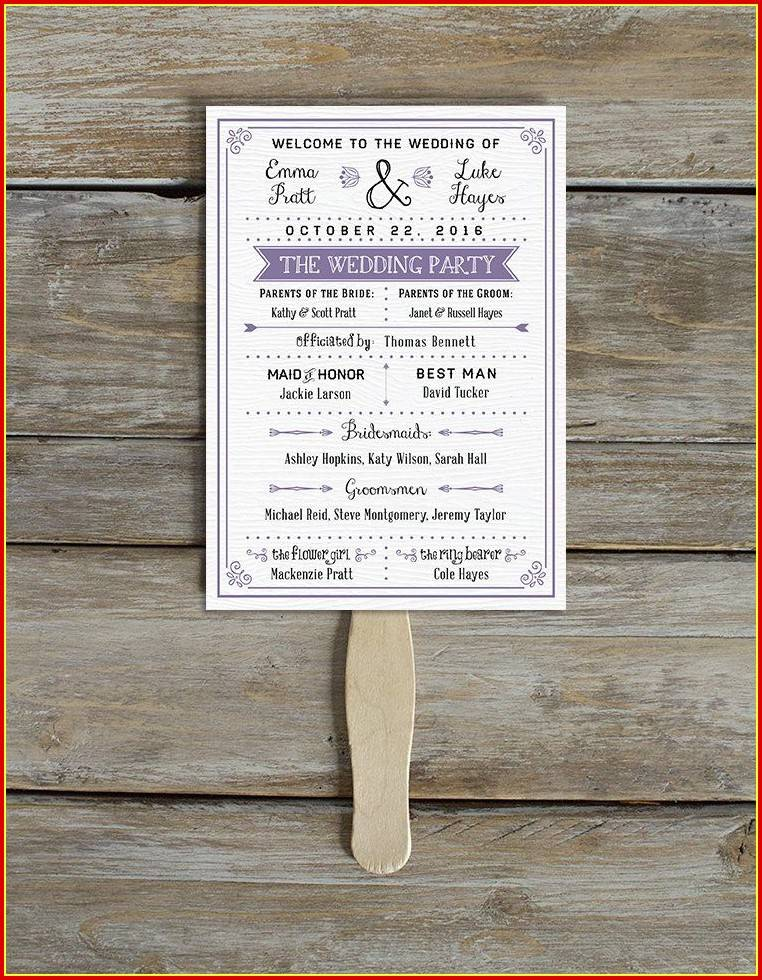Rustic Wedding Program Templates Free