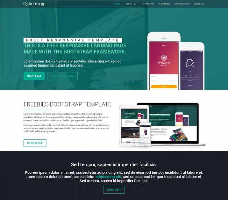 Saas Landing Page Bootstrap Template