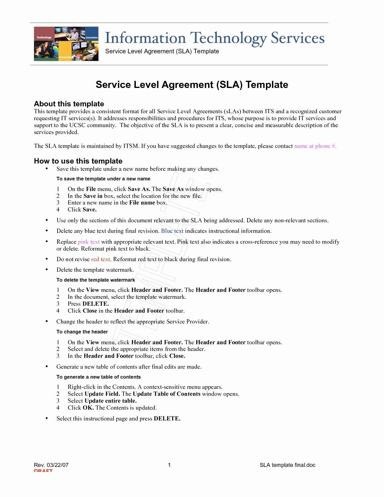 Saas Service Agreement Template