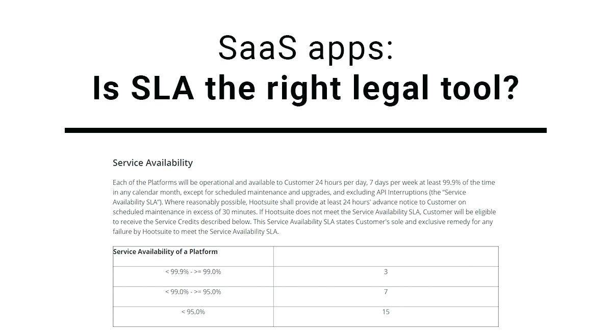 Saas Service Level Agreement Template