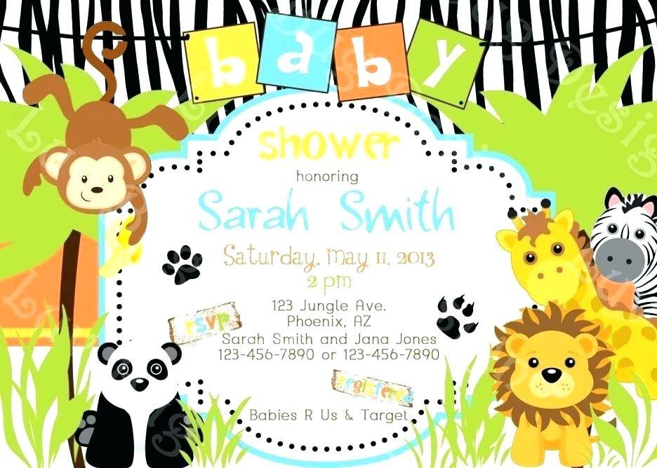 Safari Jungle Invitation Template