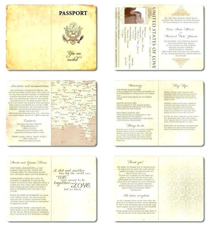 Safari Passport Invitations Template