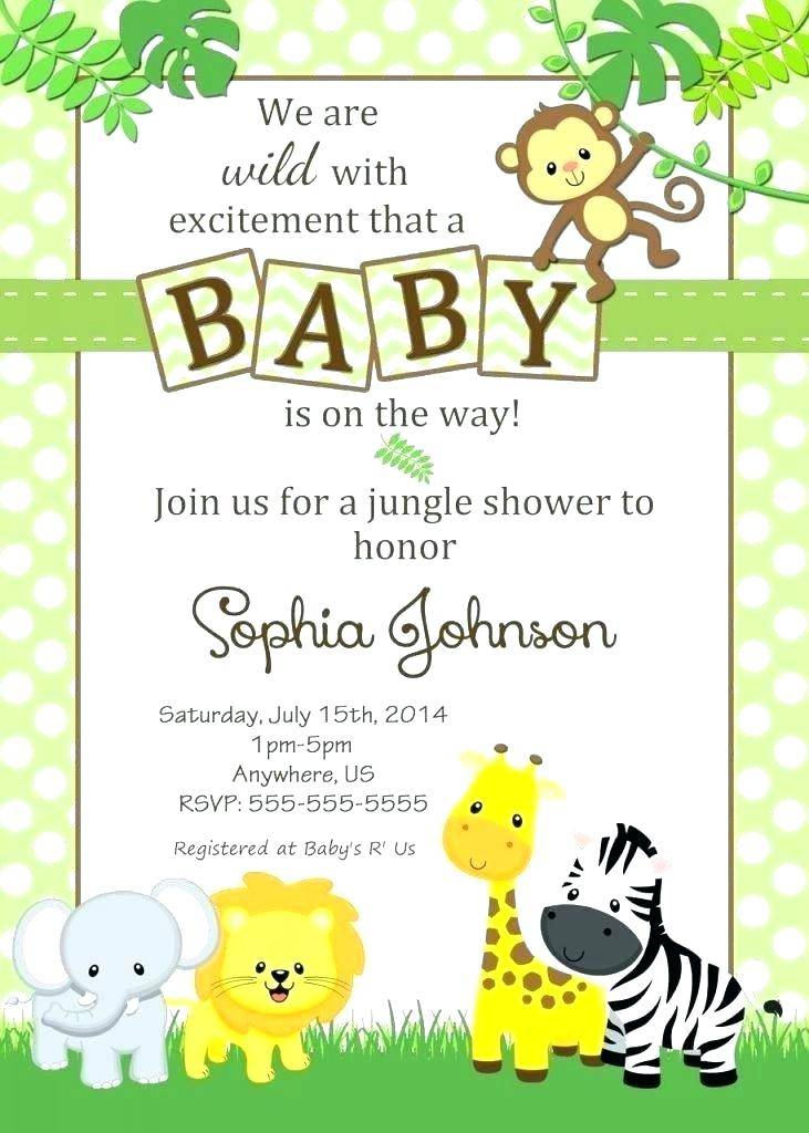 Safari Theme Invitation Template