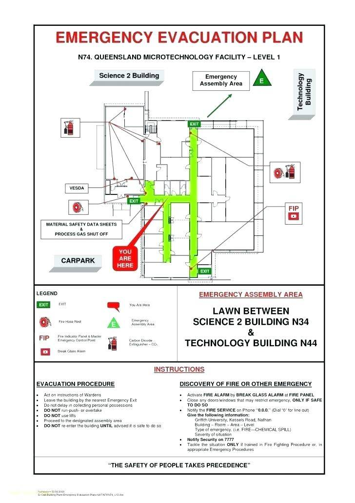 Safety Evacuation Plan Template