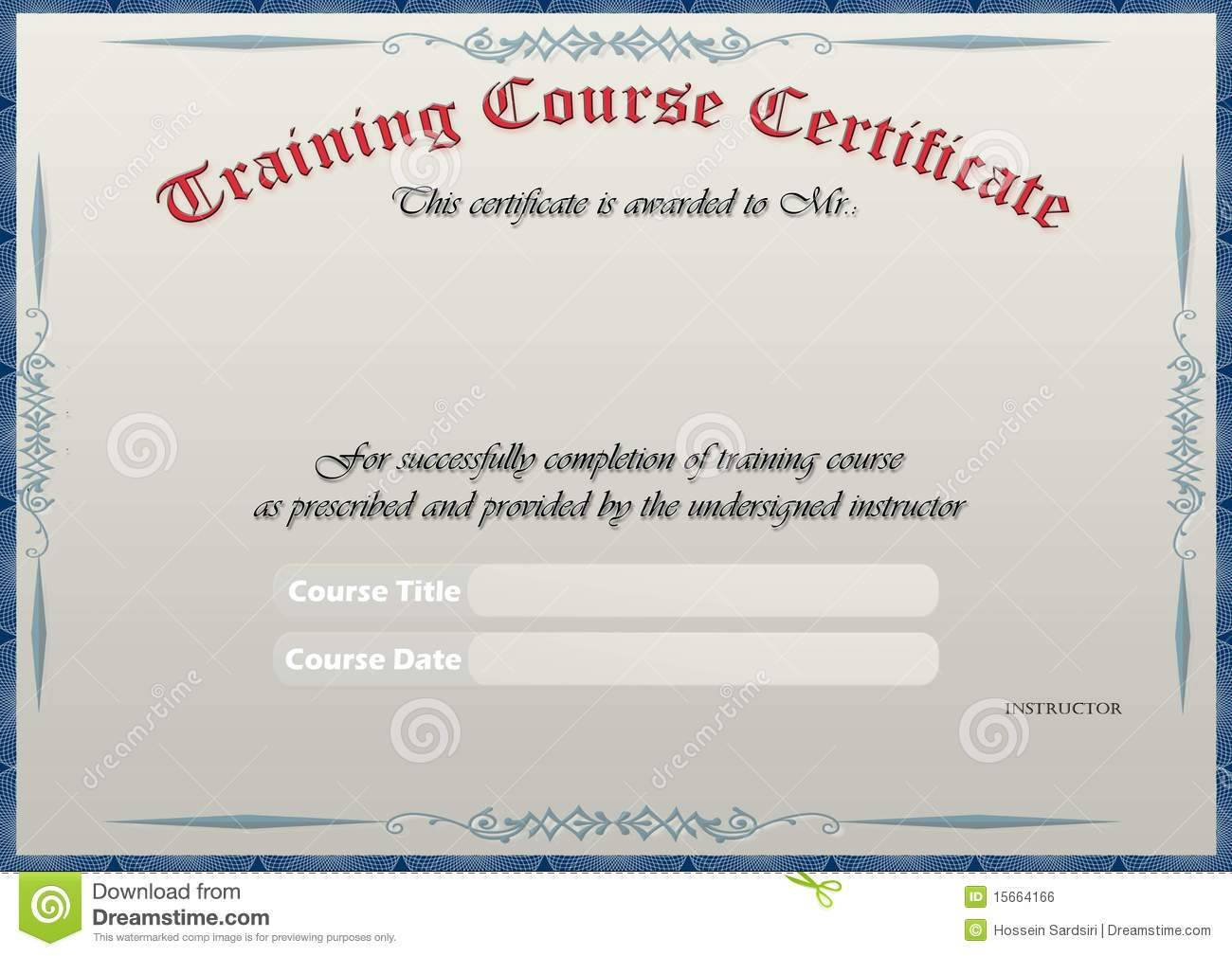 Safety Training Certificate Template Free
